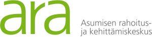 ARA Asumisen rahoitus- ja kehittämiskeskuksen logo